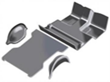 80-96 MIP Floor Mat Set - Complete Black