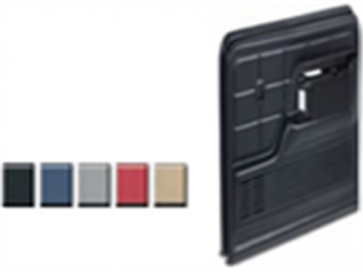 78-79 Door Panel Set - Accepts Padded Armrests - Gray