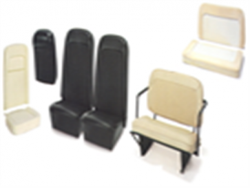 66-77 Rear Seat Cover Set - Off White