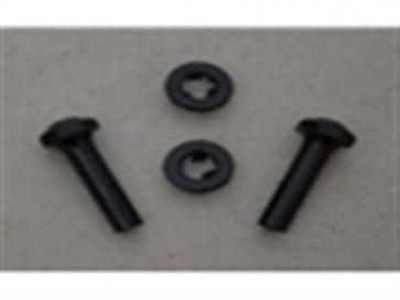 66-81 Door Lock Knob Set - Black