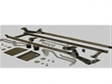 53-56 Reverse Flip Hood Tilt Kit - Steel / Stainless
