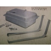 61-72 Gas Tank - Custom Rear Mount w/ all accessories and hardware - 17 gallon - 12H X 19W X 30L