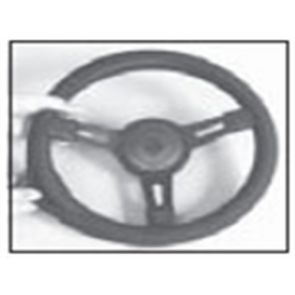 "Steering Wheel Cover - Black - 141/2"" - 151/2"""