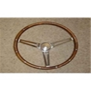 Classic Wood Steering Wheel - w/ Ford Oval Center
