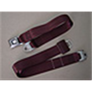 66-96 Replacement Seat Belt - Burgandy