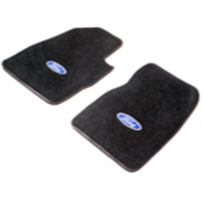 66-73 Floor Mat Set - Black Ford Oval
