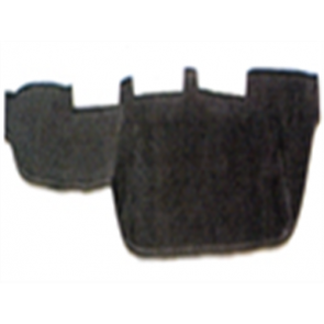 66-67 Velour Dash Protector - Black