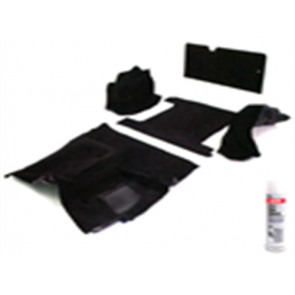 74-77 Molded Carpet Set - Complete - Black