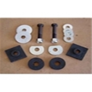 61-65 Radiator Core Mount Kit - 16pc - w/ oval frame hole