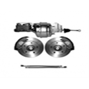 65-72 Complete Power Disc Brake Kit - 5 on 5 1/2