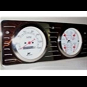 """40-47 Polished Billet Dash Panel - Quad 3 3/8"""""""