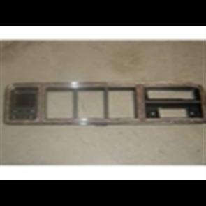 73-79 Dash Bezel - Chrome/Woodgrain - w/ radio and w/ factory A/C