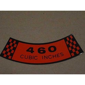 1971 460 CID AIR CLEANER DECAL
