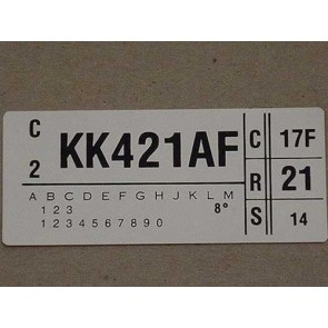 1979 400 AT ENGINE CODE DECAL
