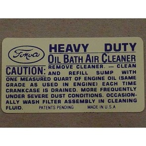 1948-51 FORD TRUCK AIR CLEANER DECAL