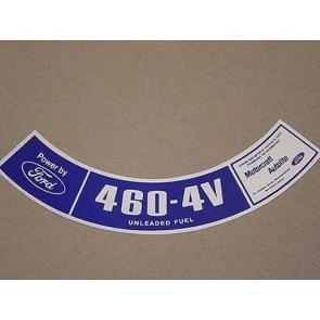 1975-76 460-4V UNLEADED FUEL A.C.D.