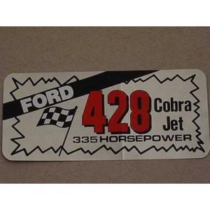 FORD 428 CJ 335HP AIR/VALVE COVER DECAL