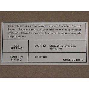 1969 MT EMISSION DECAL