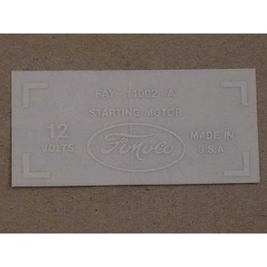 1959-61 FORD STARTER DECAL