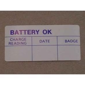 1960-63 FORD PROD. BATTERY TEST OK DECAL