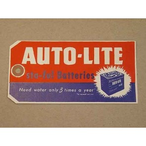 1960-72 AUTOLITE BATTERY TAG