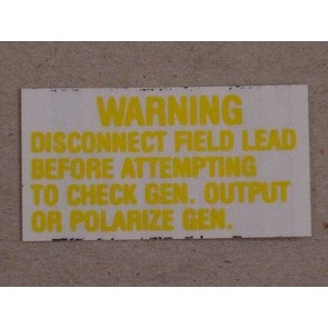 1962-69 VOLTAGE REGULATOR WARNING Pr.