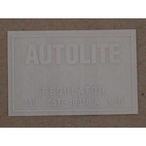 1965-66 VOLT REGULATOR DECAL W/AIR