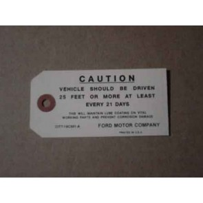 1961-69 FORD CAUTION DRIVEN TAG