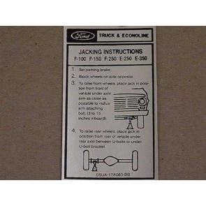 1975-79 FORD TK JACK INSTRUCTION