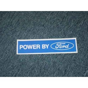 POWERED BY FORD (WHITE) DECAL