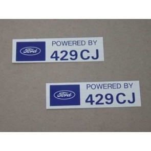 POWERED BY 429 CJ VALVE COVER DECAL pr
