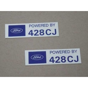 POWERED BY 428 CJ VALVE COVER DECAL pr