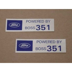 POWERED BY BOSS 351 VALVE COVER DECAL pr