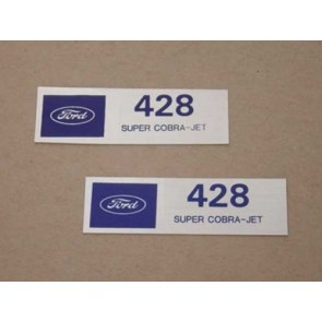 428 SUPER COBRA JET VALVE COVER DECAL pr