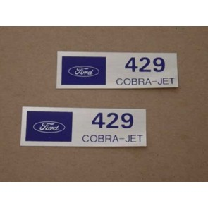 429 COBRA JET VALVE COVER DECAL pr