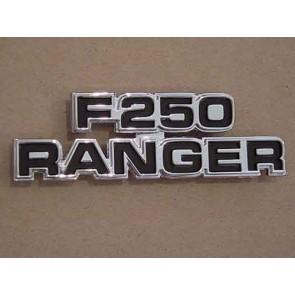 """77-79 Cowl Side Emblem - """"F250 Ranger"""""""