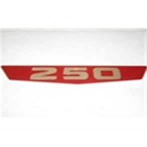 "63-64 Fender Emblem Insert Set - Red "" 250 """