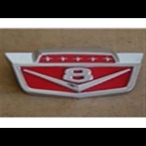 """61-66 Hood Front Emblem - """"V8"""""""