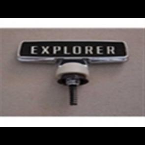 "76-77 Hood Ornament - ""Explorer"" - Black Background"