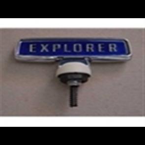 "76-77 Hood Ornament - ""Explorer"" - Blue Background"