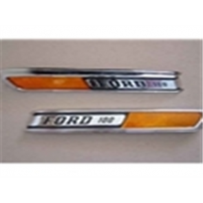 """68-72 Hood Side Emblem - """"FORD 100"""""""