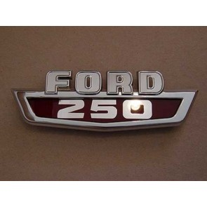 """63-66 Hood Side Emblem - """"Ford F250"""""""