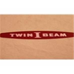 """66 Hood Side Emblem Insert Set - """"Twin I Beam""""-1"""
