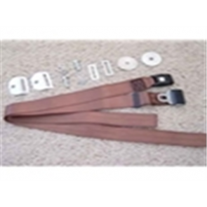 48-86 Bench Seat Belt Kits - Brown