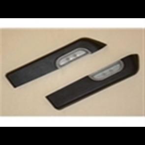 73-79 Door Armrest Set - includes metal cups - Black - OE tooling