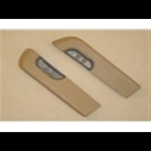 73-79 Door Armrest Set - includes metal cups - Light Buckskin