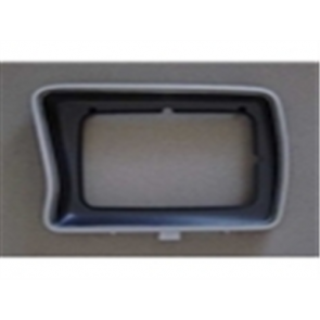 78-79 Bezel - Headlight - Silver/Black  - LH - rectangular style - OE Tooling - reproduction available for $21.95