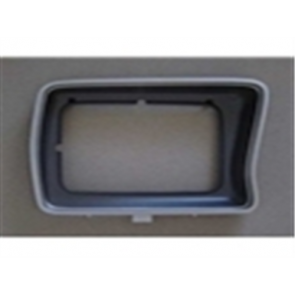 78-79 Bezel - Headlight - Silver/Black  - RH - rectangular style - OE Tooling - reproduction available for $21.95