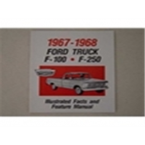 1967-68 FORD TRK ILL. FACTS/FEATURES MANUAL