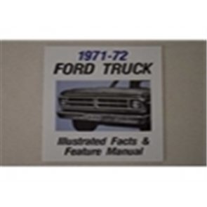 1971-72 FORD TRK ILL. FACTS/FEATURES MANUAL